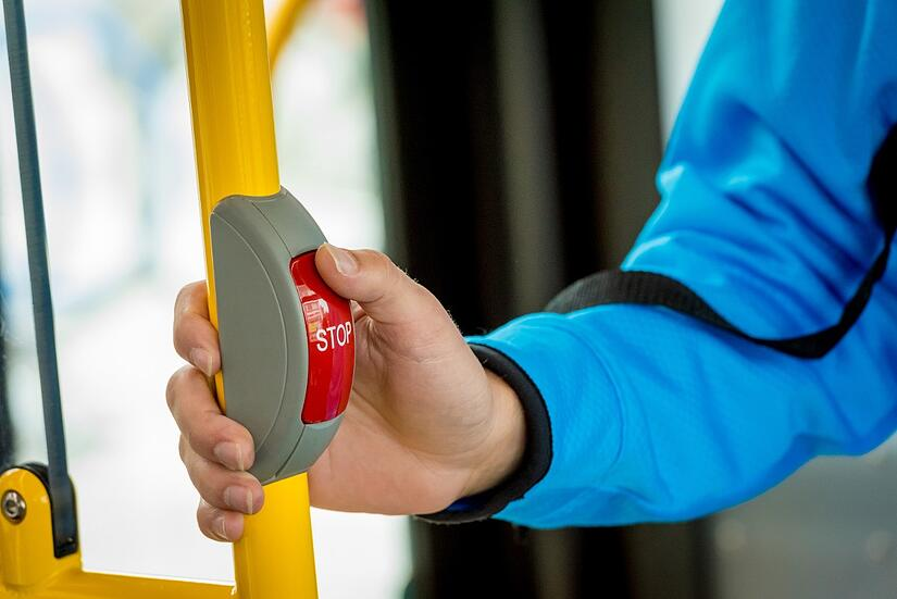 Image result for stop buttons in metro buses
