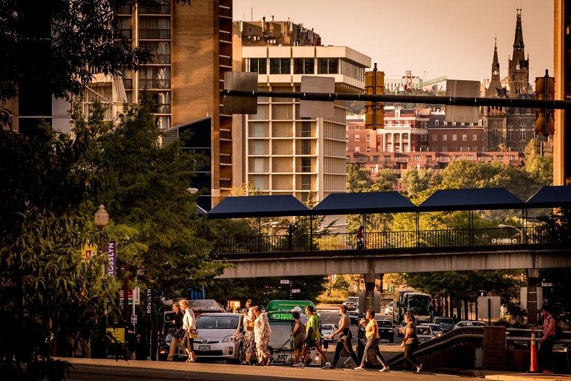 pedestrians-buses-cars
