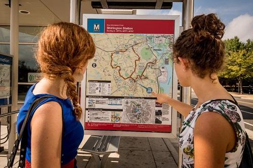 Arlington County commuters, bus map