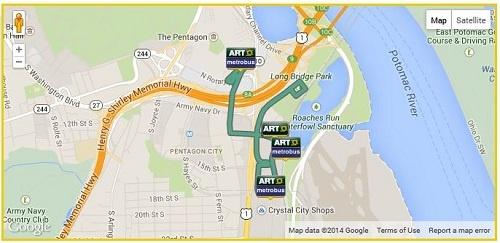 ART 92 Bus Route Map
