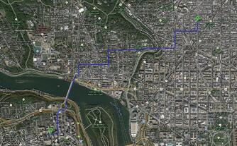 Brett Jone's daily bike route