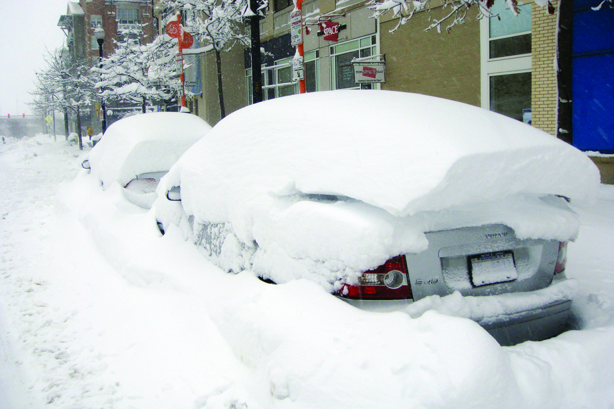 Blizzard, Snow on Top of Car