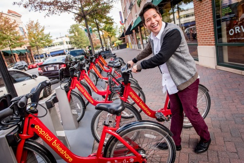 Capital Bikeshare Rider, Clarendon - Arlington, VA