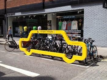 Fun bike rack
