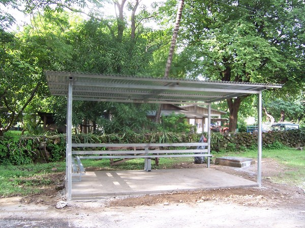 Bus stop in Costa Rica