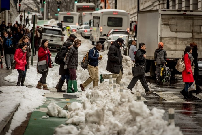 Commuting in the snow