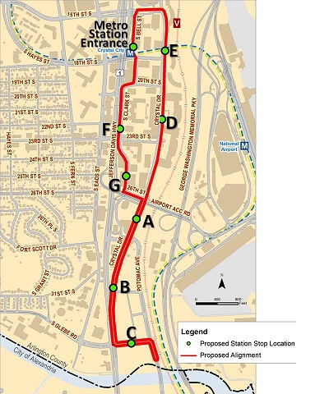 Transitway map