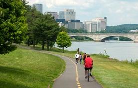 Bikers and Walkers in Arlington