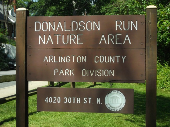 Donaldson Run Sign