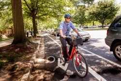 Business Person on Capital Bikeshare