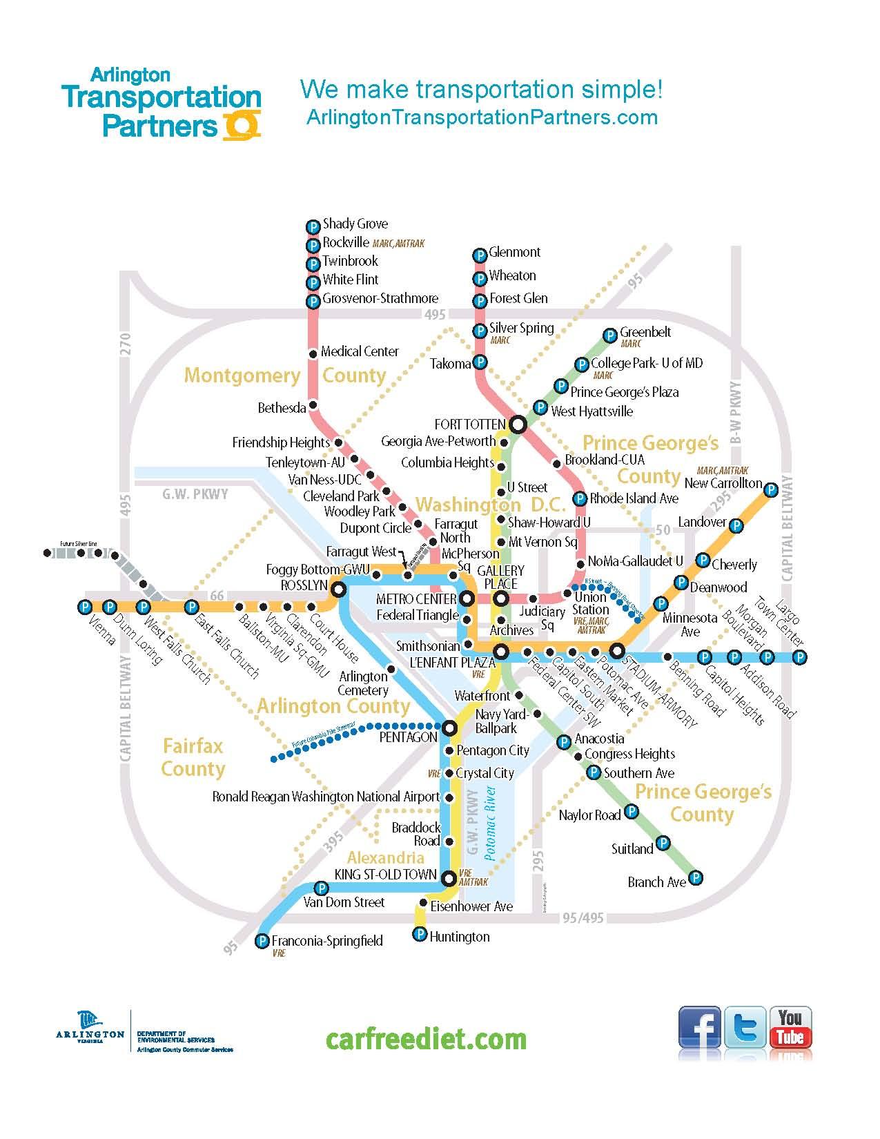 ATP Metro System Map