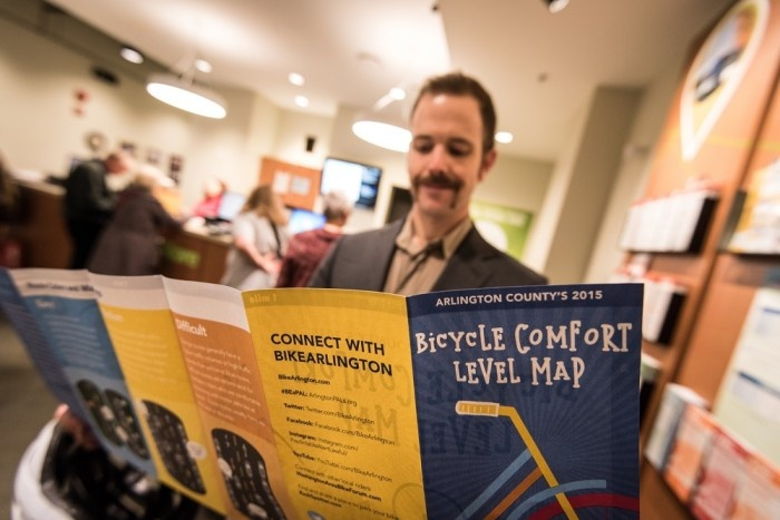 Maps and Brochures, Commutet Store, Arlington, Bicycle Comfort Map