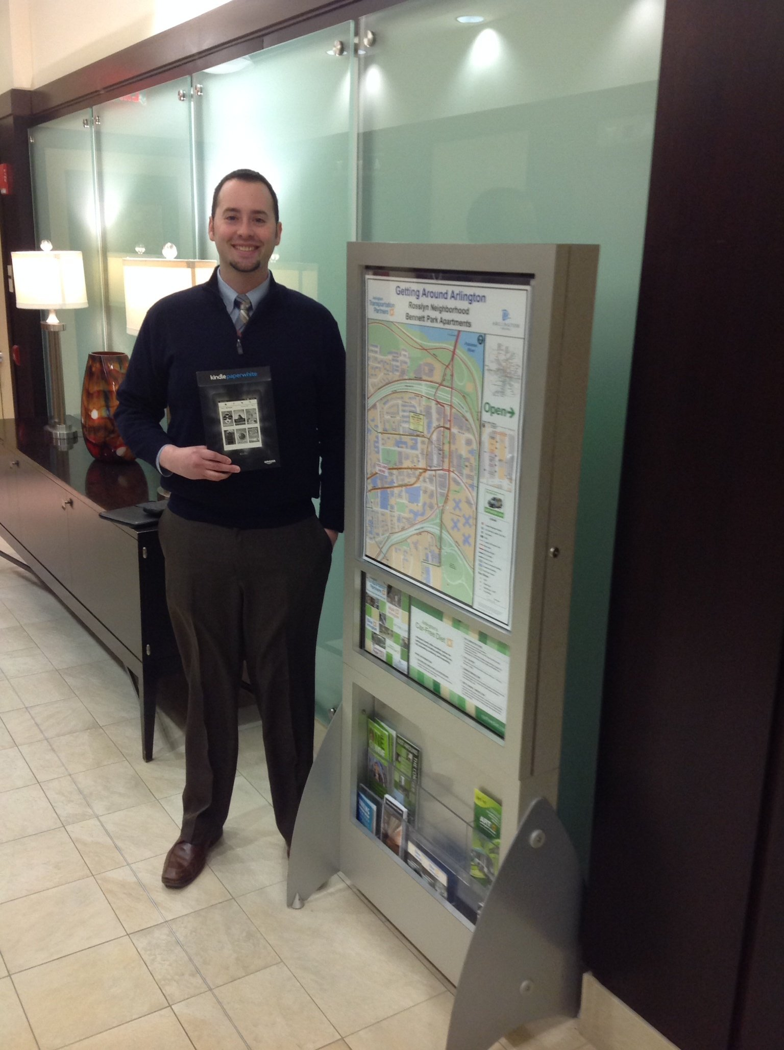 Jared Bailey, property manager of Bennett Park Apartments in Rosslyn