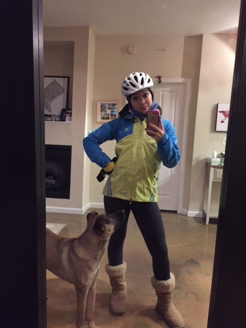 Keara Biking in the Cold