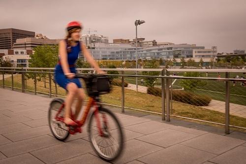 Capital Bikeshare Rider near Boeing, Long Bridge