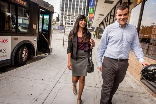 Bus riders, Arlington Virginia