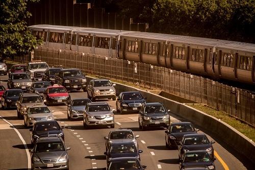 Metro VS cars on I66, Arlington VA
