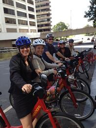 Employees on Capital Bikeshare Bikes
