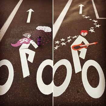 Prince and Bowie bike lanes