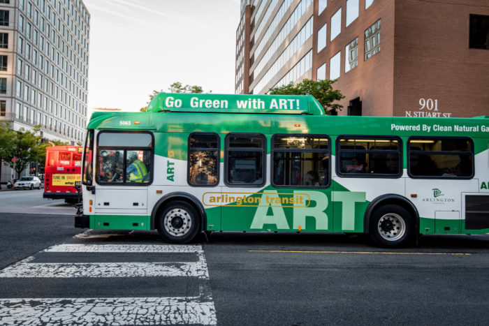 Side of ART Bus Moving