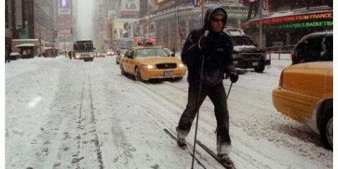 Skiing in Streets
