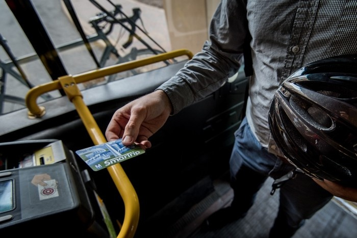 SmarTrip card on bus