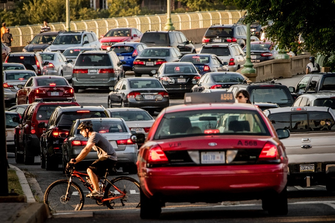 Traffic in Arlington and DC