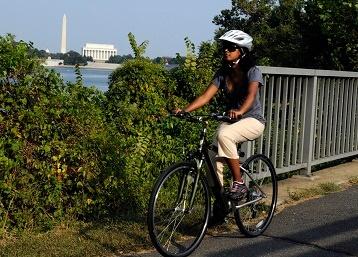 biking in Arlington