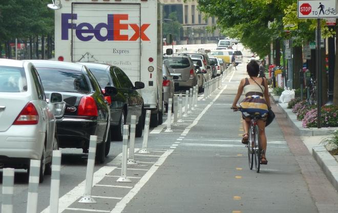 Protected Bike Lane in DC