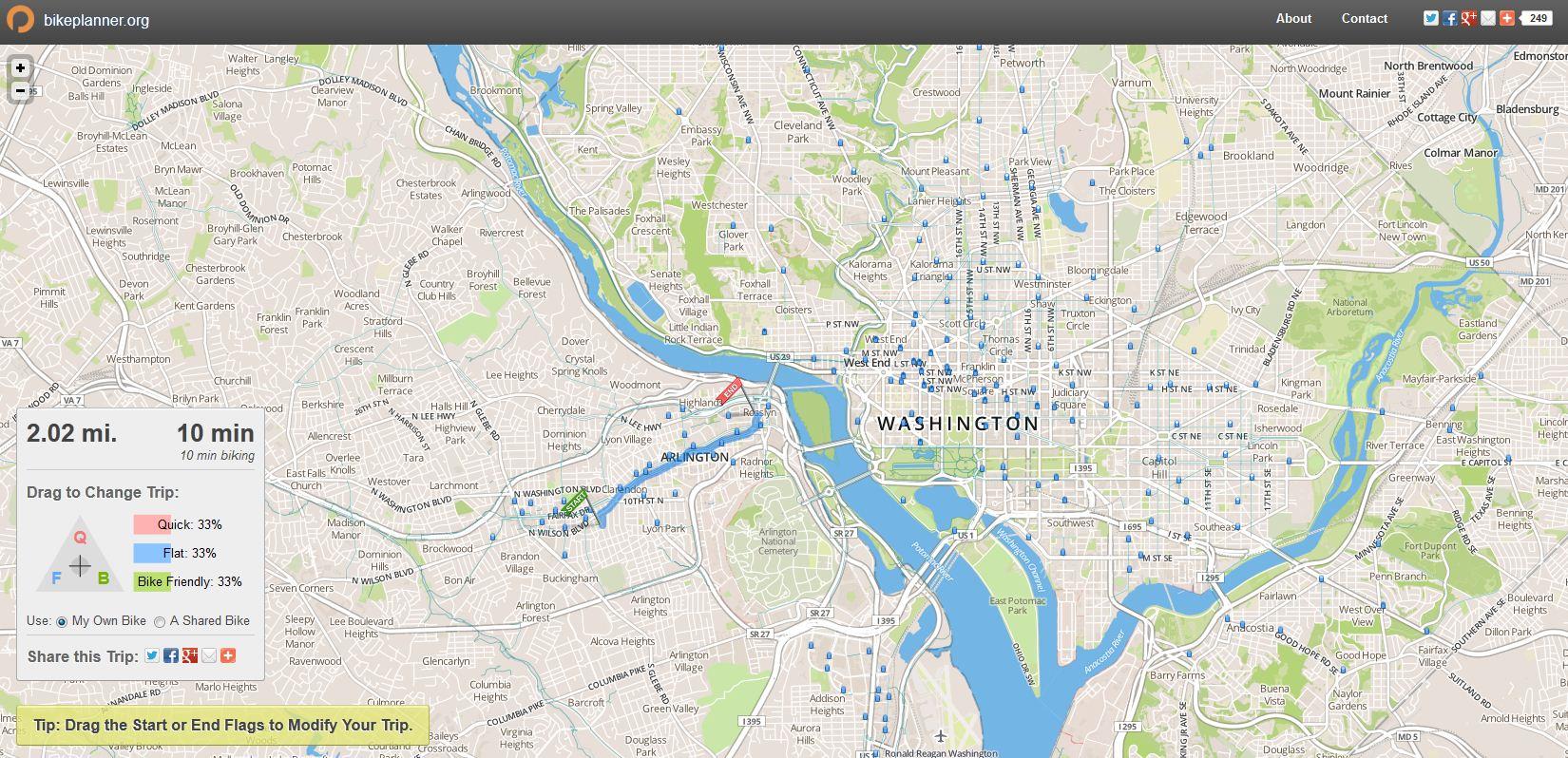 bike planner map