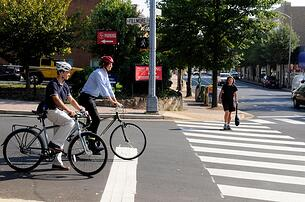 Bicyclists at Crosswalk