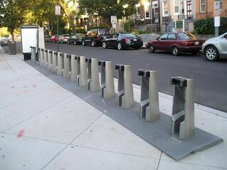 Empty Capital Bikeshare station