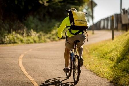 Biking on trails, Arlington Virginia
