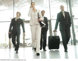 Photo: business people in the airport