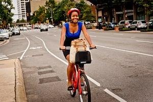 Girl Riding Capital Bikeshare