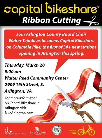 Capital Bikeshare CaBi Ribbon Cutting Ceremony