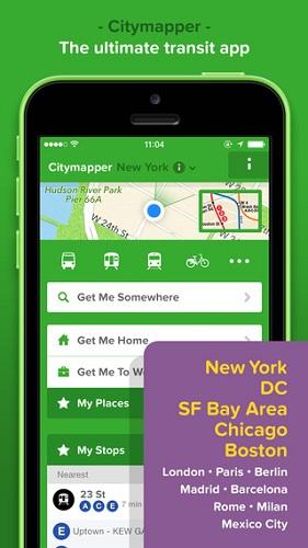 CityMapper screen shot