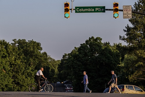 Columbia Pike pedestrians crossing