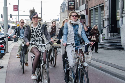 Cyclists on the street