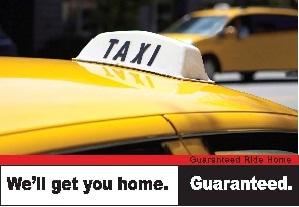 Guaranteed Ride Home Taxi Image