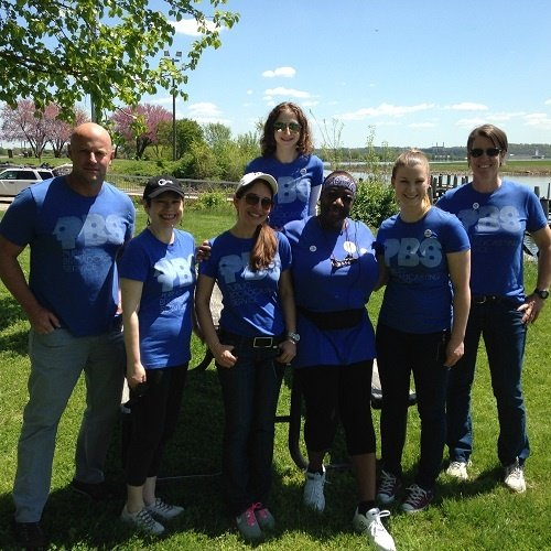 PBS Walking Group on National Walk@Lunch Day 2015