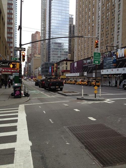 NYC Protected Bike Lane