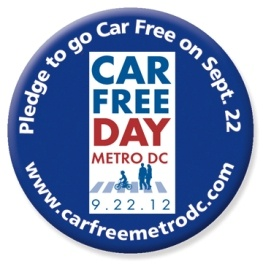 Car Free Day Pledge Button