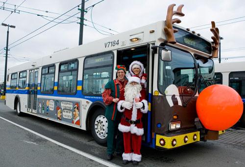 Vancouver's Reindeer Bus