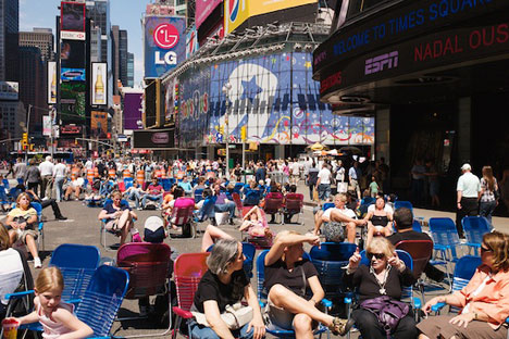 Hot Summer in Times Square NYC