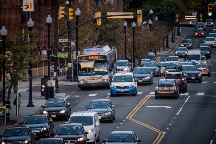 Traffic on Columbia Pike, Arlington County