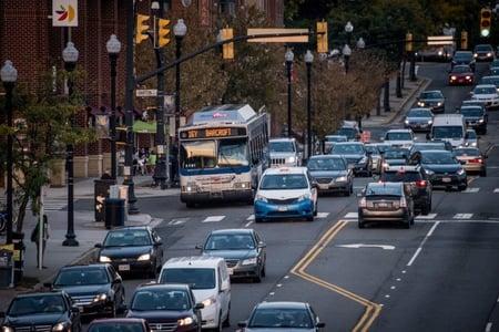 Traffic on Columbia Pike, Arlington County