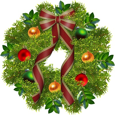 Happy Holidays Wreath