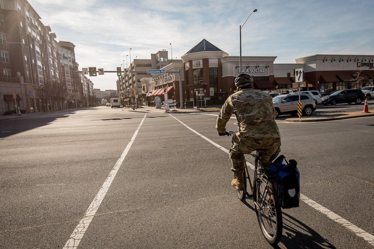 army-man-biking-i66-area
