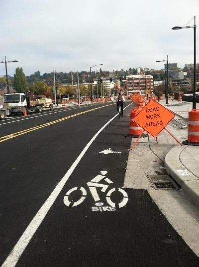 Bike Lane in Seattle